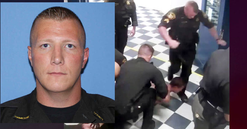 Ohio deputy seen on video kicking inmate in head after being bitten charged with assault