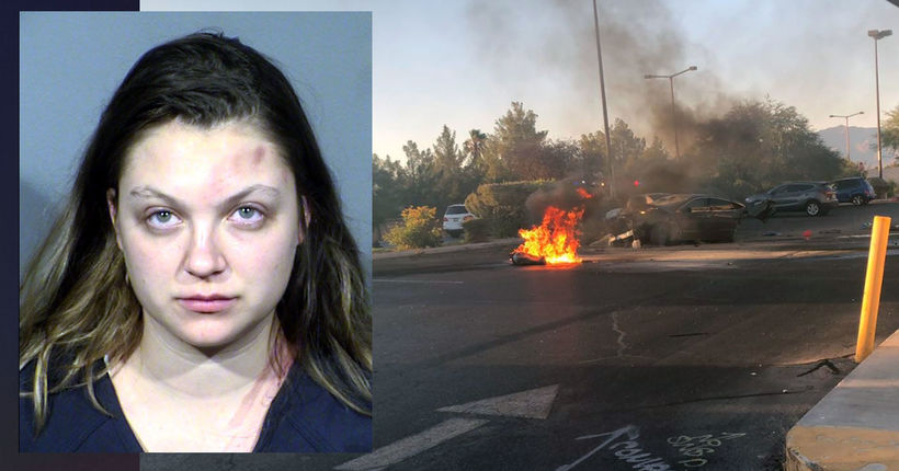 Las Vegas DUI suspect was driving 121 mph in crash that killed year-old son, police say