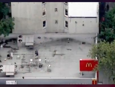 Body found wrapped in plastic bag on roof of Bronx McDonald's, police say