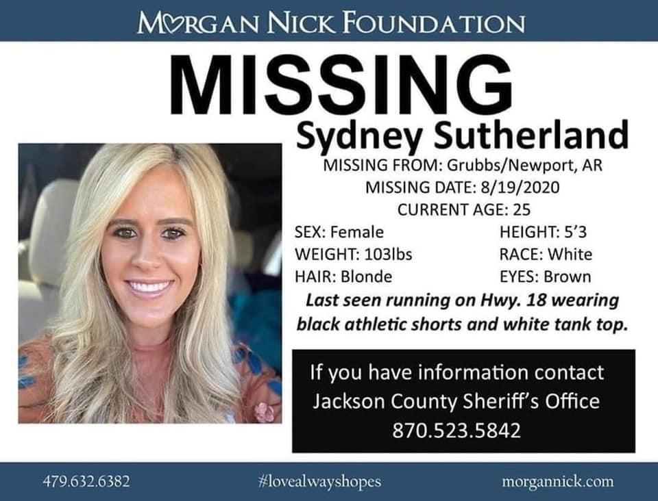 sydney-sutherland-missing-jackson-county-sheriff-facebook