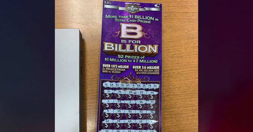 Georgia suspect running from deputies abandoned winning lottery ticket