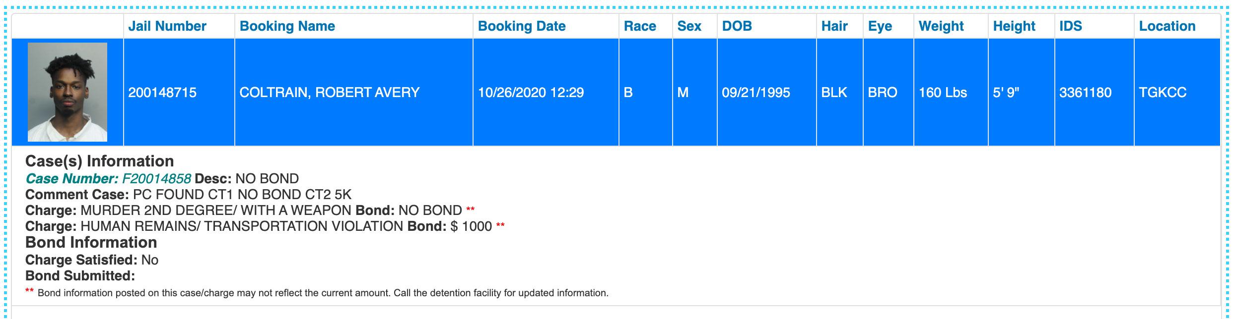 robert-coltrain-booking-miami-dade-jail