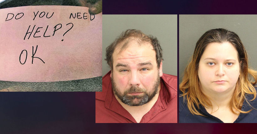'Do you need help?' Restaurant note leads to parents' arrest